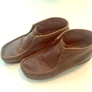 Clark's Wallabee chukka boots brown leather sz 10